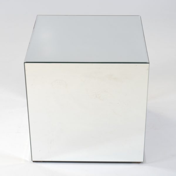 Mirror cube table to hire