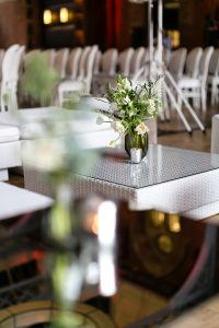 White flowers at event - Event Planning Guide