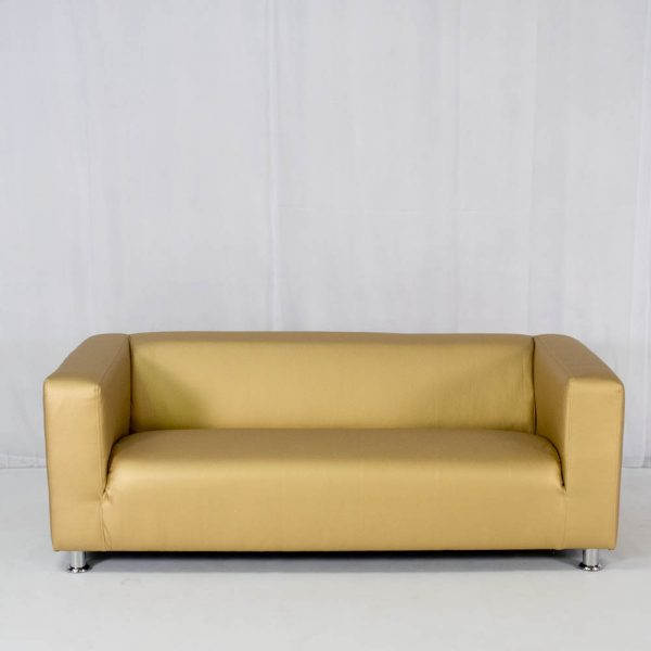 club lounge sofa gold for hire