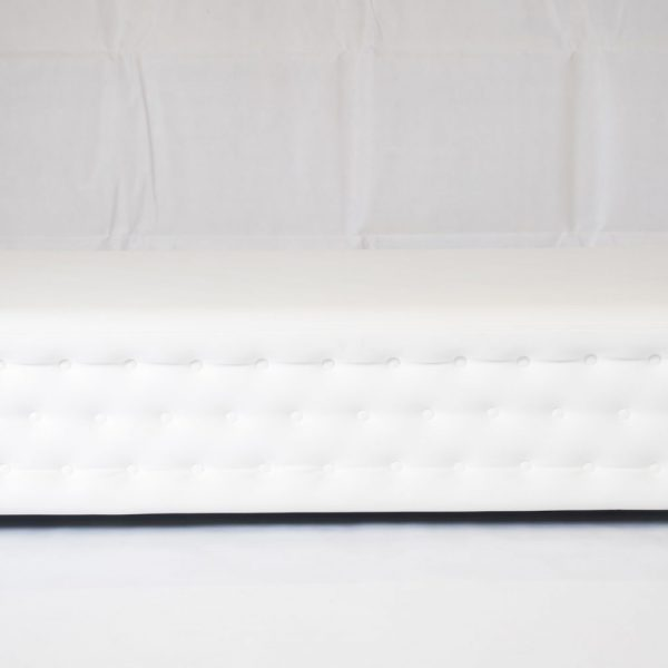 white chesterfield bench